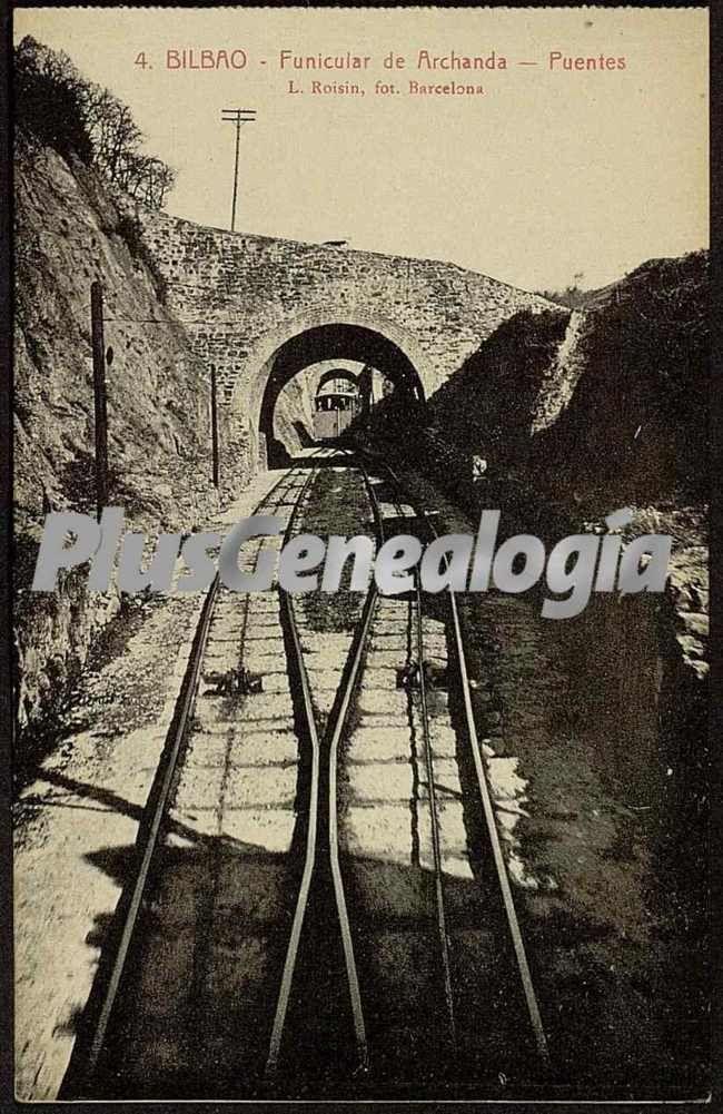 Puentes del funicular de archanda de bilbao