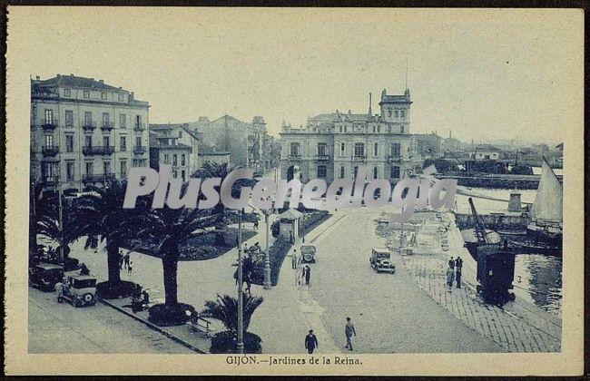 Jardines de la reina gij n asturias fotos antiguas for Letras gijon jardines de la reina