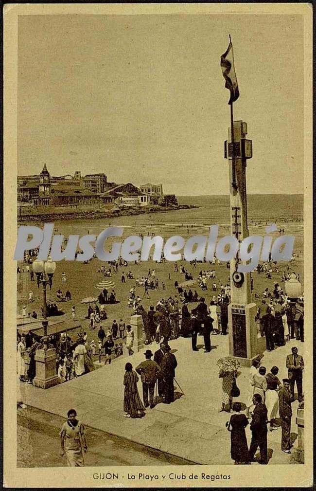 La playa y club de regatas, gijón (asturias)