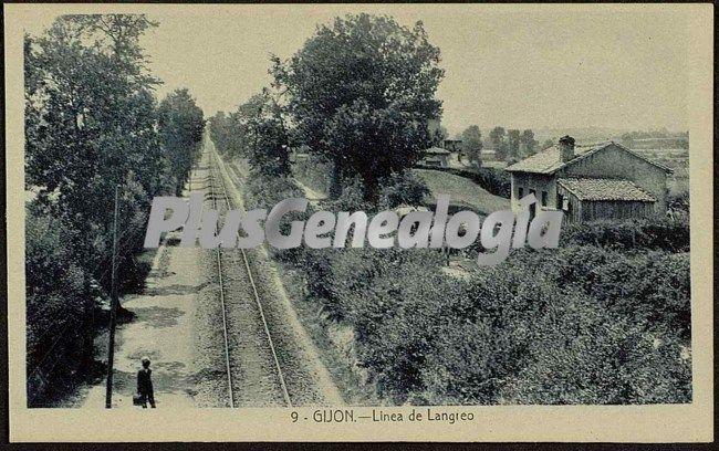 Linea de langreo, gijón (asturias)