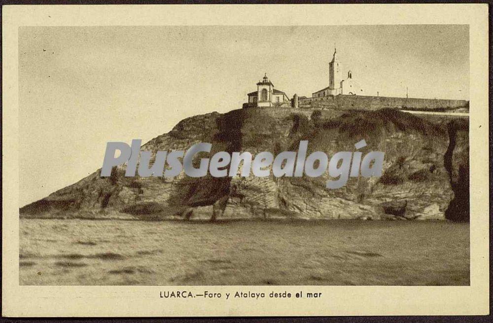 Faro Y Atalaya Desde El Mar Luarca Asturias Fotos Antiguas  # Muebles Luarca Asturias