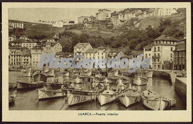 Foto antigua de Puerto interior, Luarca (Asturias)