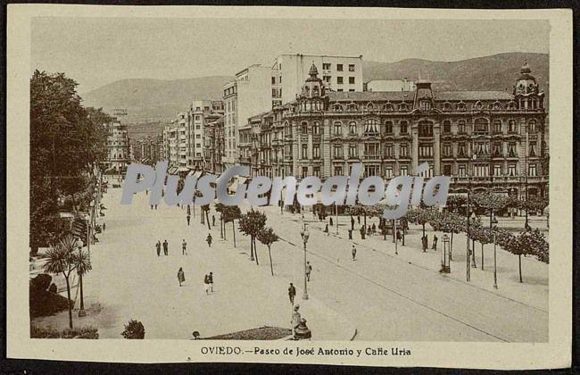 Paseo de josé antonio y calle uria , oviedo (asturias)