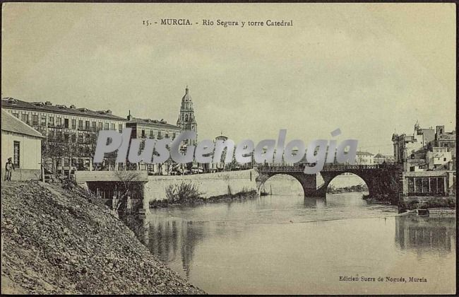 Rio segura y torre catedral, murcia