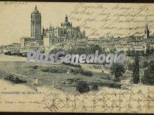 Postal dedicada del panorama de segovia