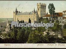 Fachada del poniente del alcázar de segovia