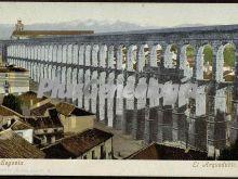 Vista en altura del acueducto de segovia