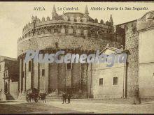 ábside y puerta de san segudo de la catedral de ávila
