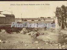 Vista del puente romano sobre el río adajo a su paso por ávila