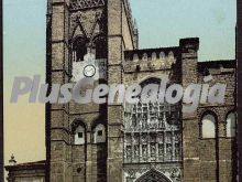 Fachada de la catedral de ávila (en color)
