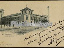 Postal dedicada de la casa de felipe ii de valladolid