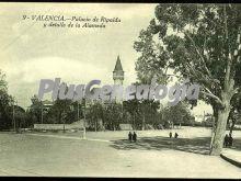 Palacio de ripalda y detalle de la alameda de valencia