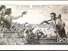 Cartel de la exposición regional valenciana (1909)
