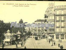 Calle sagrario de san francisco y parque emilio castelar de valencia