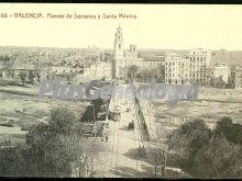 Puente de serranos y santa mónica de valencia