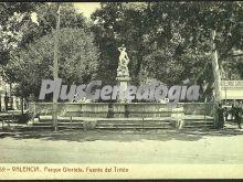 Fuente del tritón del parque glorieta de valencia