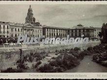 Fachada del ayuntamiento y glorieta de españa, murcia