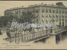 Puente y plano de san francisco, murcia