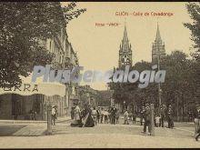 Calle de covadonga, gijón (asturias)