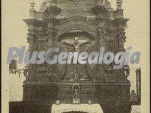Altar del cristo de la vega de socuéllamos (ciudad real)