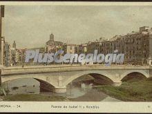 Puente de isabel ii y ramblas de girona