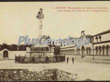 Monumento del ejército y somatén, a los héroes de la guerra de la independencia de girona