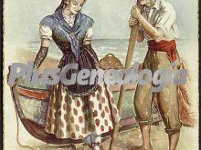 Cartel escena cortejo de pareja en girona