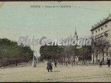 Paseo de la Castellana de Madrid (en color)