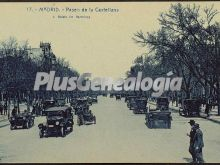 Paseo de la Castellana de Madrid con tráfico