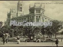 Salón del Prado y Casa de Correos de Madrid