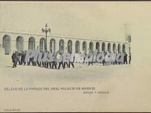 Relevo de la Parada del Real Palacio de Madrid