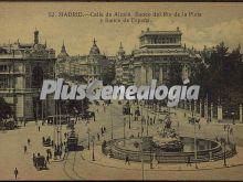 Calle de alcalá. banco del río de la plata y banco de españa en madrid