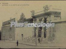 Entrada a la Cripta de la Catedral de la Almudena en Madrid