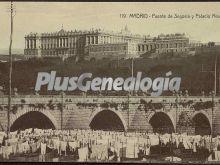 Puente de Segovia y Palacio Real en Madrid