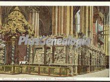Trascoro (derecha) de la catedral de la seo de zaragoza