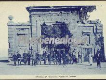 Histórica puerta del carmen de zaragoza