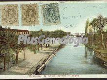 Canal imperial de aragón de zaragoza