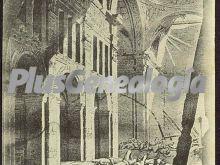 Ruinas del interior de la iglesia del carmen de zaragoza