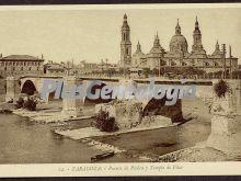 Puente de piedra y templo del pilar de zaragoza