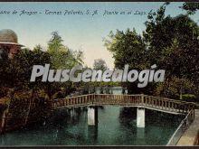 Puente en el lago de alhama de aragón (zaragoza)