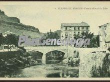 Puente sobre el río jalón de alhama de aragón (zaragoza)