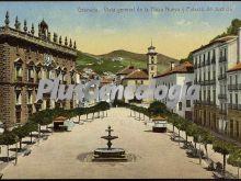 Vista general de la plaza nueva y el palacio de justicia de granada