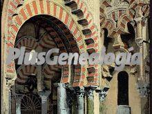Detalle interior de la mezquita de córdoba