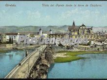 Vista en color del puente de córdoba desde la torre de calahorra