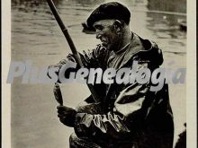 Pescador de caña en bilbao