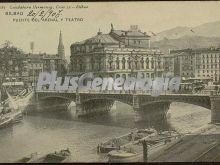 Puente del arenal y teatro de bilbao