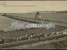Muelle de churruca y playa de portugalete de bilbao