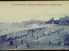 Vista parcial de la primera playa del sardinero en santander