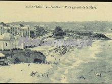 Vista general de la playa del sardinero de santander