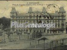 Plaza de augusto linares y gran hotel en el sardinero de santander